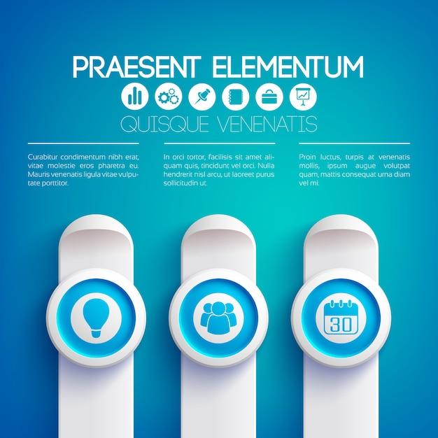 Presentación de infografía empresarial vector gratuito