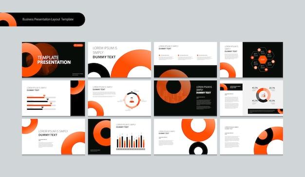 Presentación de negocios plantilla de diseño layou Vector Premium