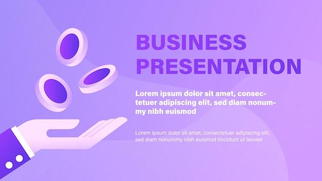Presentación de negocios Vector Premium