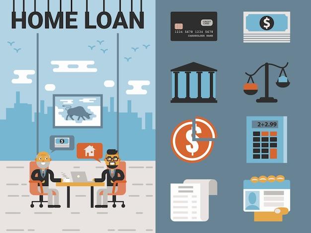 Préstamo hipotecario Vector Premium