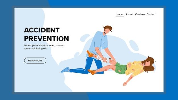 Prevención de accidentes y trauma de primeros auxilios Vector Premium