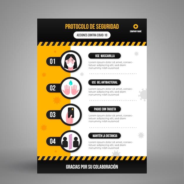 Prevención de coronavirus con diseño infográfico vector gratuito