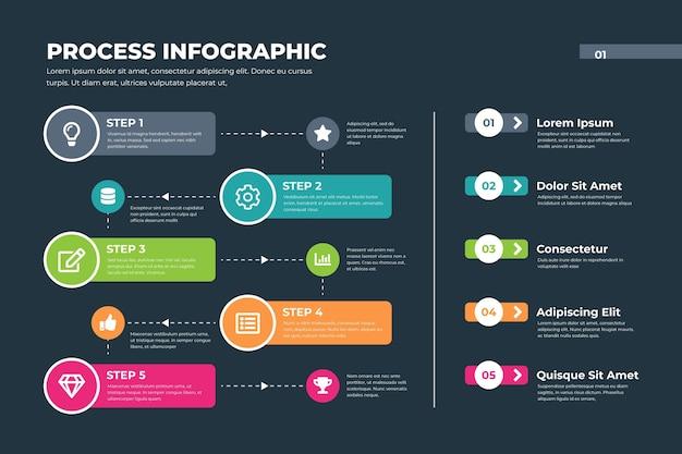 Procesar infografía con datos vector gratuito