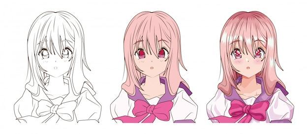 Diseño de ilustración de vector de personaje de estilo de
