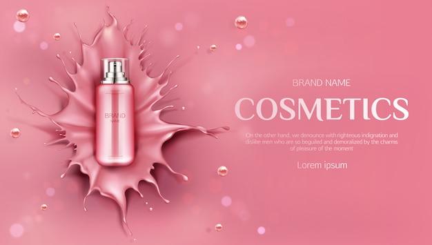 Producto de belleza para el cuidado de la piel banenr vector gratuito