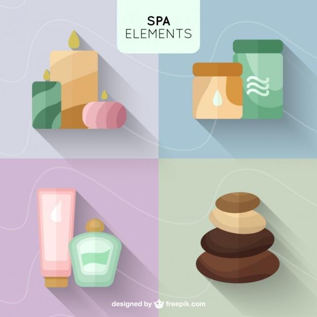 Productos de belleza de spa en dise o plano descargar - Articulos para spa ...