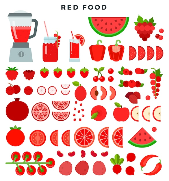 Productos dietéticos vegetarianos crudos Vector Premium