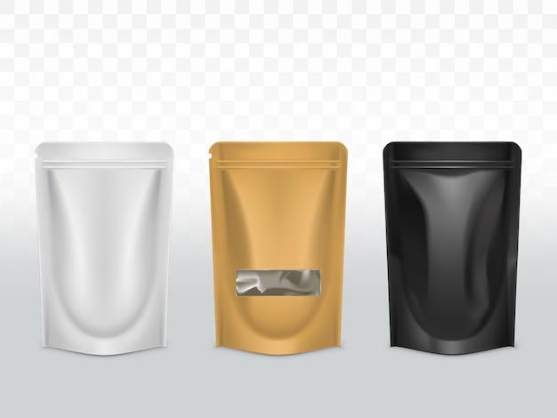 Productos de envases de polietileno. vector gratuito