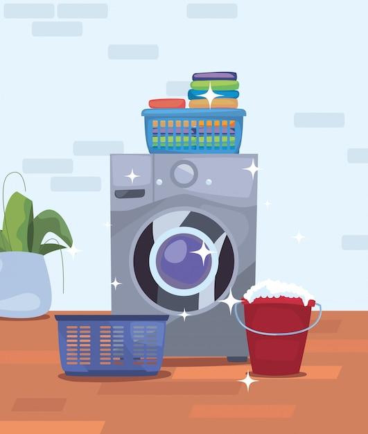Productos de limpieza y suministros Vector Premium