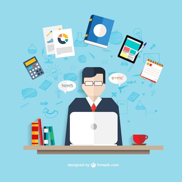 Profesor fotos y vectores gratis for Ina virtual de empleo