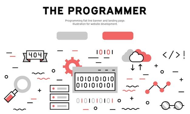 La programadora web infografía. Vector Premium