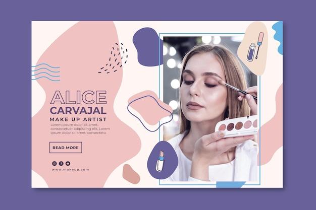 Promoción de banner cosmético vector gratuito