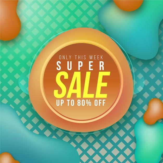 Promoción de etiqueta de ventas colorido abstracto vector gratuito