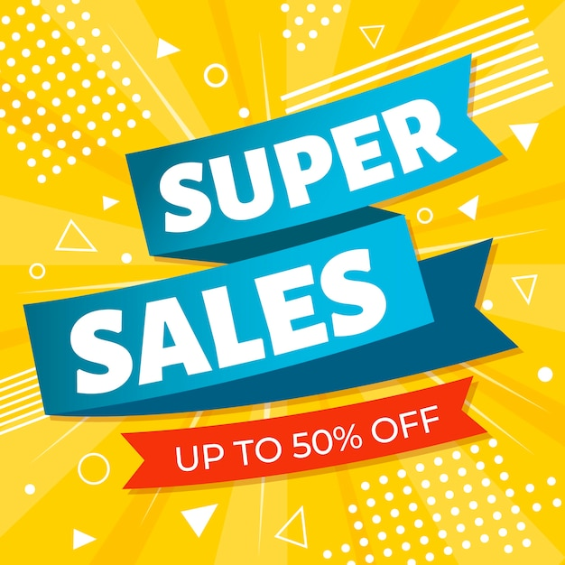 Promoción de etiquetas de ventas coloridas vector gratuito