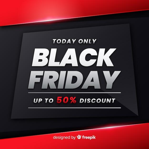 Promoción de gradiente de viernes negro vector gratuito