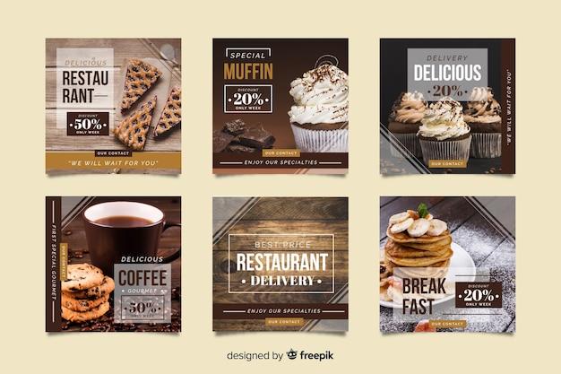Promoción de instagram con ofertas especiales vector gratuito