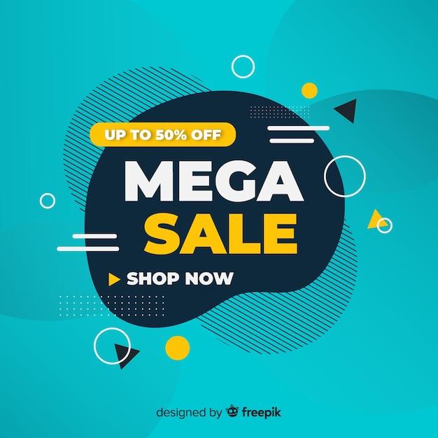 Promoción de ventas abstractas vector gratuito