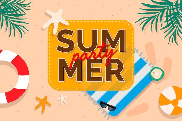 Promoción verano tropical vector gratuito