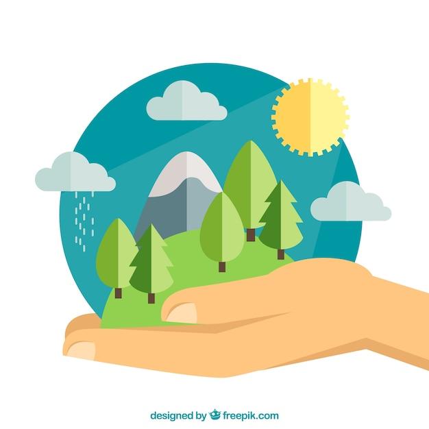 Protección del medio ambiente vector gratuito