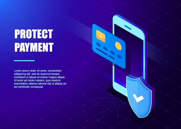 Proteger plantilla de pago Vector Premium
