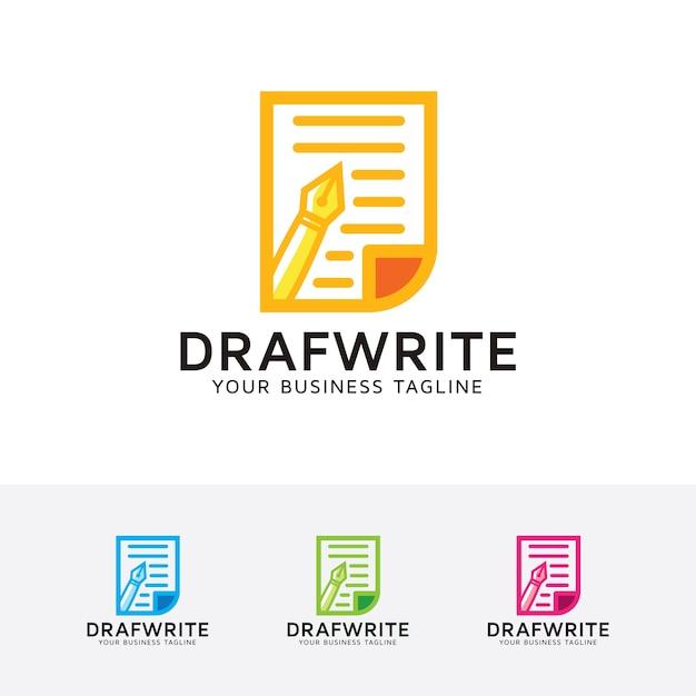 Proyecto de plantilla de logotipo de escritura   Descargar Vectores ...