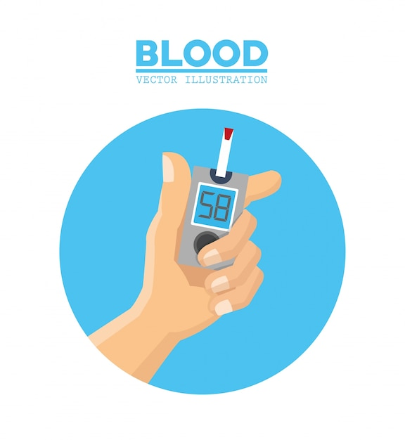 Sangre diabetes en la
