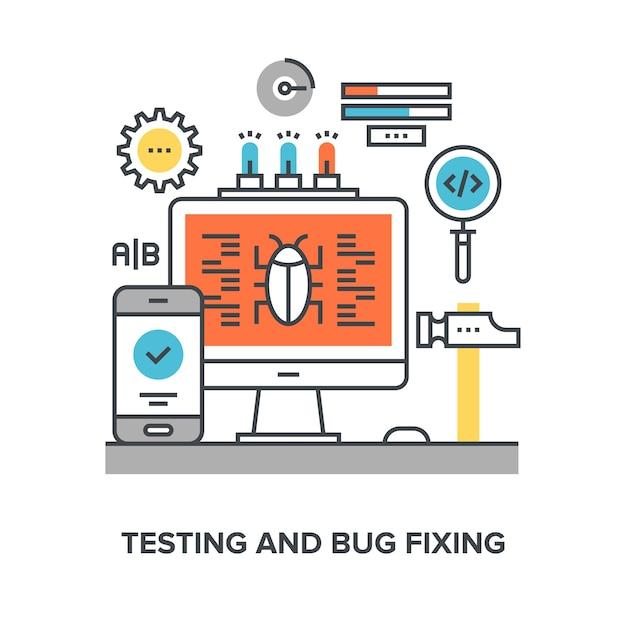 Prueba y correcci n de errores descargar vectores premium - Limpiador de errores gratis ...