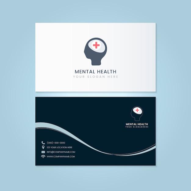 Psiquiatra de salud mental nombre tarjeta maqueta vector vector gratuito