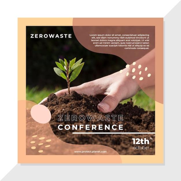 Publicación de cero residuos en facebook vector gratuito