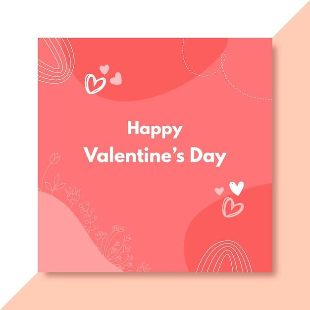 Publicación de facebook del día de san valentín garabatos vector gratuito