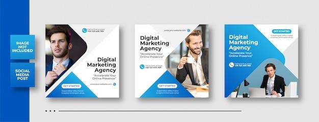 Publicación de redes sociales de marketing de negocios digitales Vector Premium