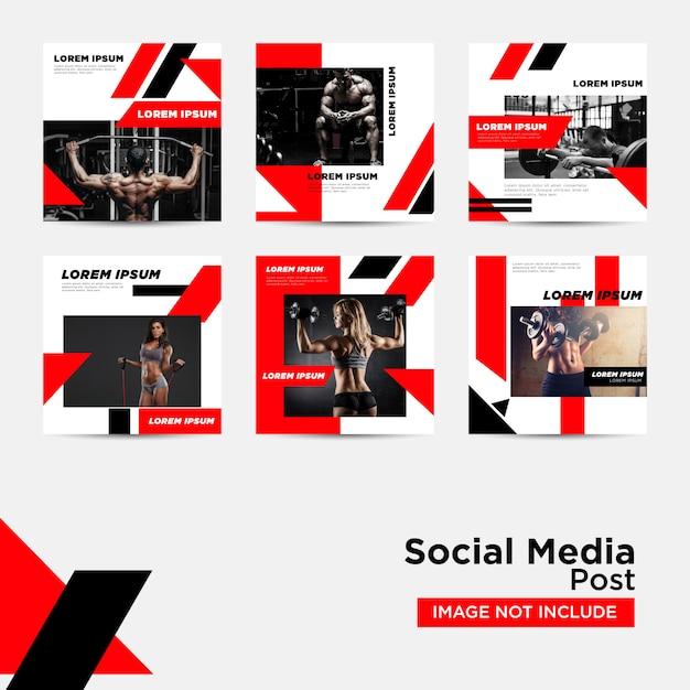 Publicación en redes sociales para plantilla de marketing digital Vector Premium