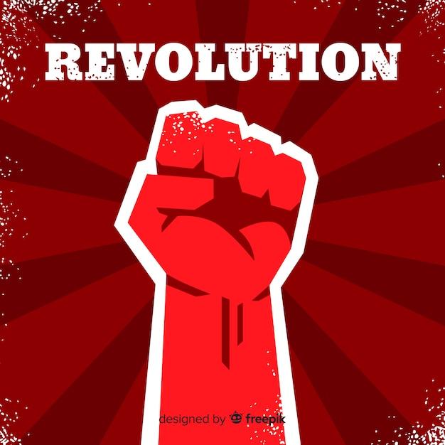 Puño en alto para la revolución vector gratuito