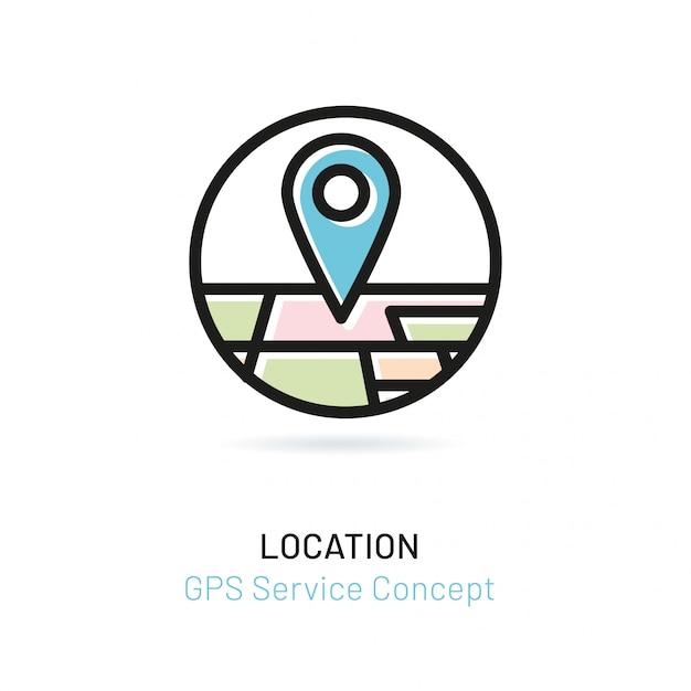Puntero con perspectiva de mapa de la ciudad. Vector Premium