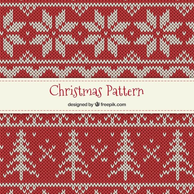 Punto de cruz patrón de navidad | Descargar Vectores Premium