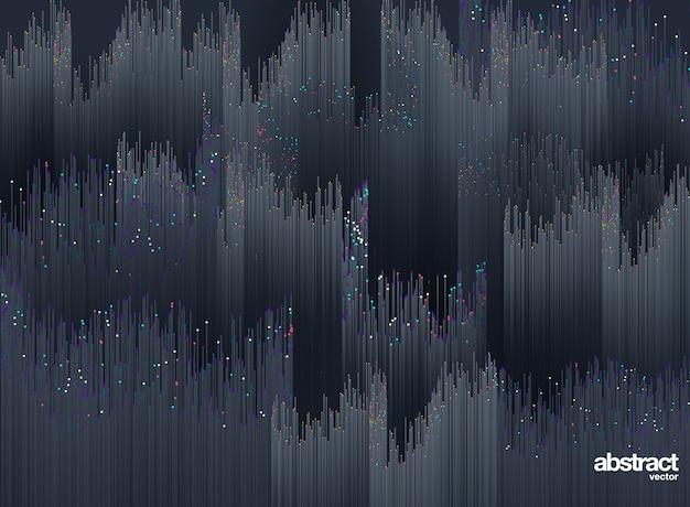Punto y línea formada por gráficos abstractos radiales. fondo Vector Premium