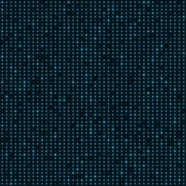 Puntos de neón del color azul abstracto, fondo punteado de la tecnología. Vector Premium