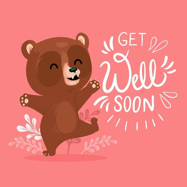 Que te mejores pronto con un lindo oso Vector Premium