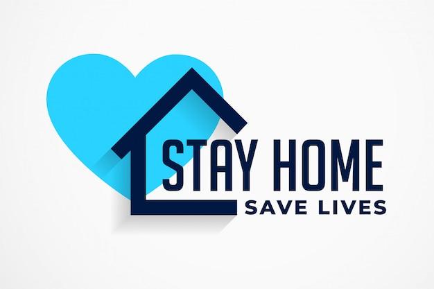 Quédate en casa y salva vidas diseño de póster vector gratuito