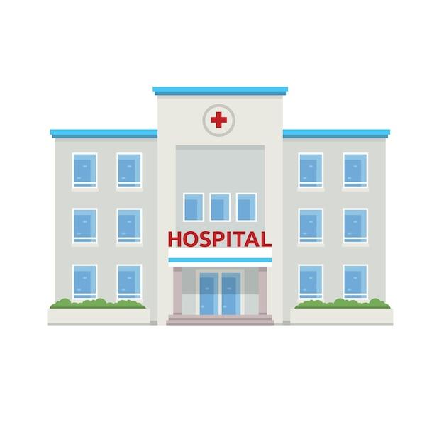 Ilustracin plana del edificio del hospital descargar vectores demo 24 malvernweather Images