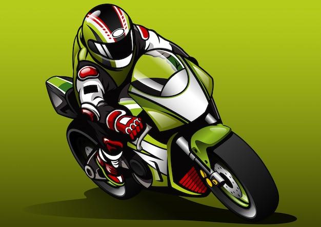 Racer ride sportbike Vector Premium