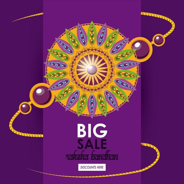 Raksha bandhan gran plantilla de venta vector gratuito