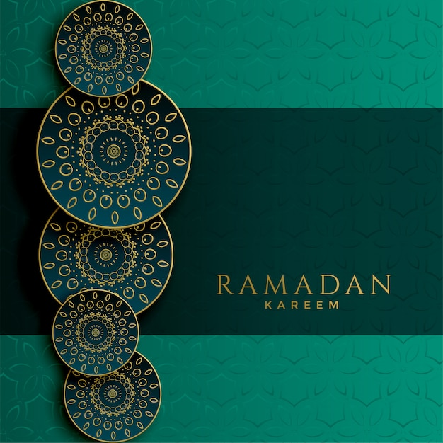 Ramadán kareem diseño patrón islámico decorativo vector gratuito