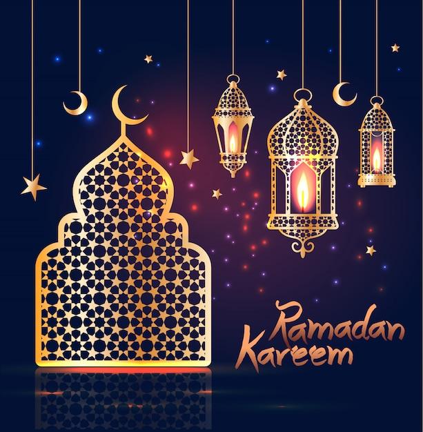 Ramadan kareem Vector Premium