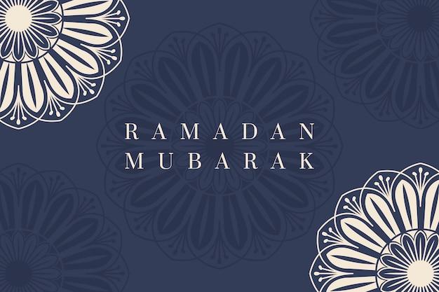 Ramadán mubarak diseño de fondo vector gratuito