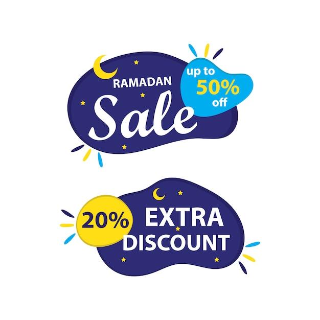 Ramadán venta banner Vector Premium