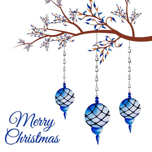 Ramas decoradas de navidad descargar vectores premium - Ramas decoradas ...