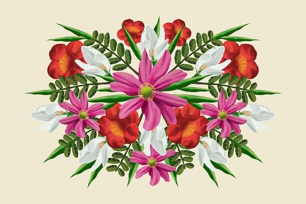 Ramo floral vintage vector gratuito