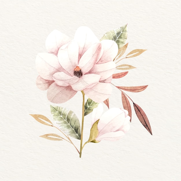 Ramo de flores en diseño vintage vector gratuito
