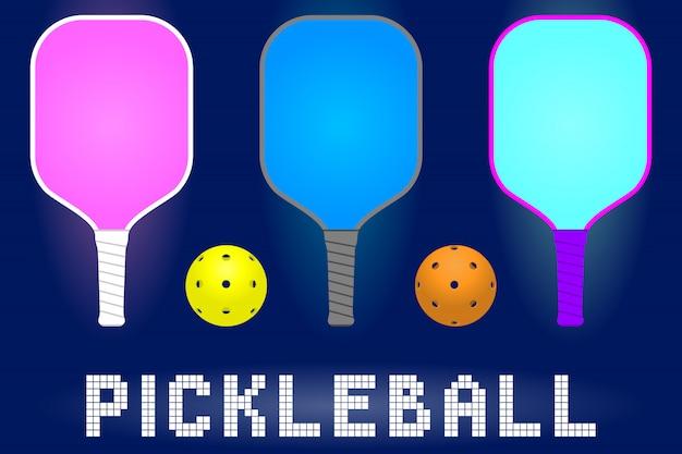 Raquetas de paletas de pickleball a Vector Premium